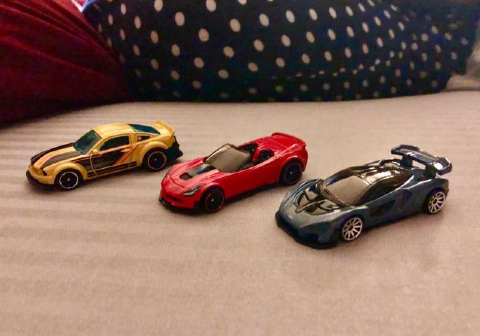 the kids get me a few new cars for my birthday every year (wife got me a real car)