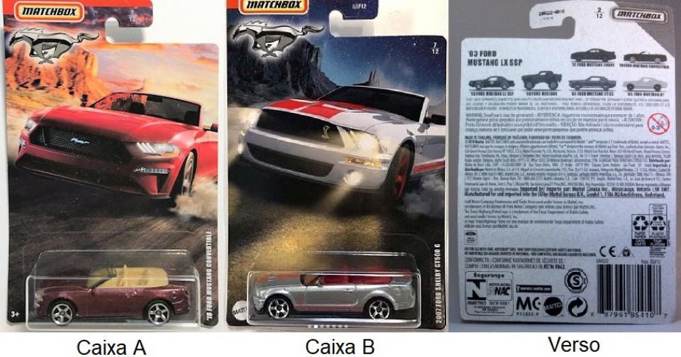 Matchbox – Série Mustang exclusiva EUA