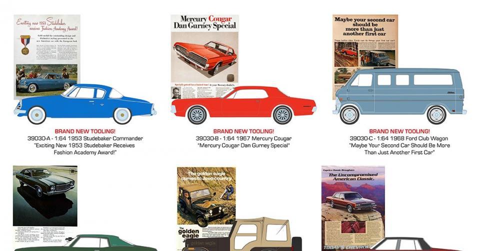Novidades na série Vintage Ad Cars