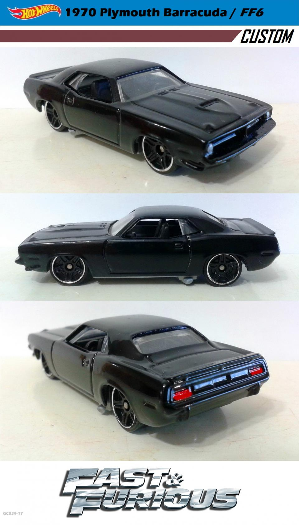 1970 Plymouth Barracuda / Fast and Furious 6 / Hot Wheels