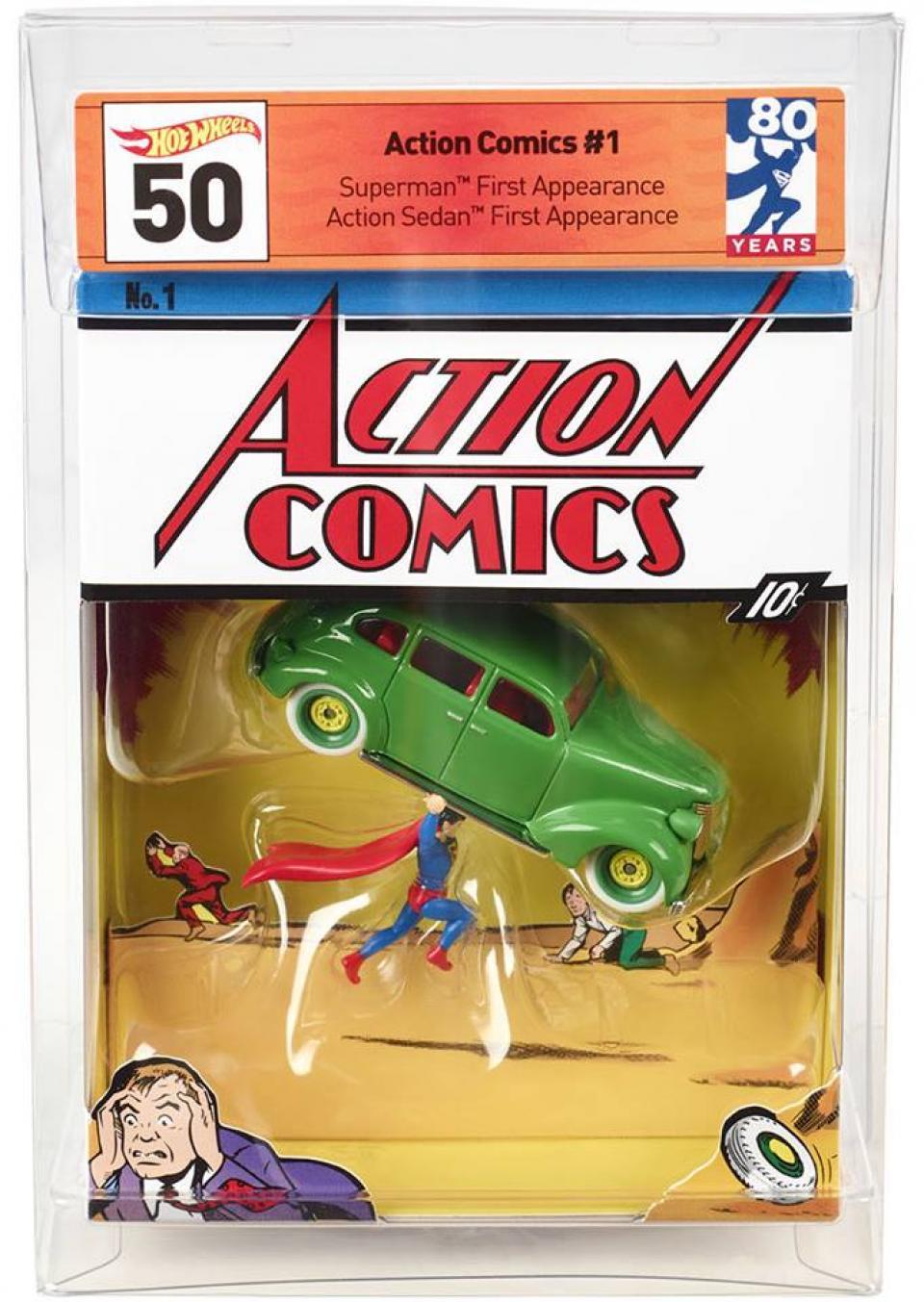 SDCC 2018 Mattel Hot Wheels DC Superman Action Comics