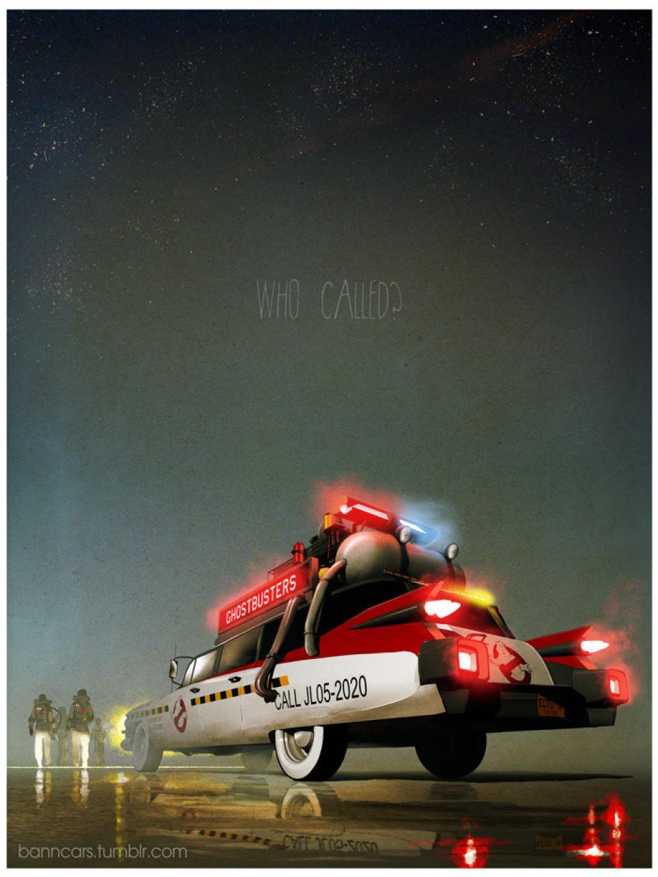 Cartazes de carros e veículos famosos da TV, filmes e videogames