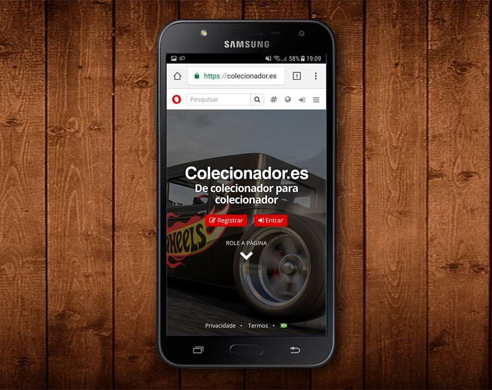 Como colocar Colecionador.es na tela inicial do Android