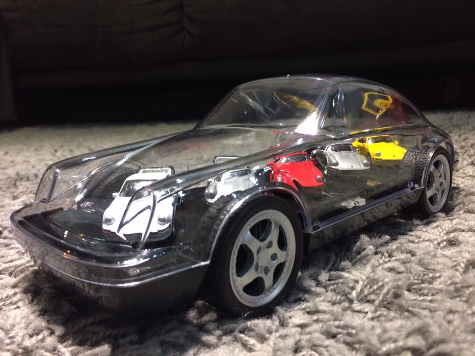 Embalagem estilosa para um coleção de Porsches