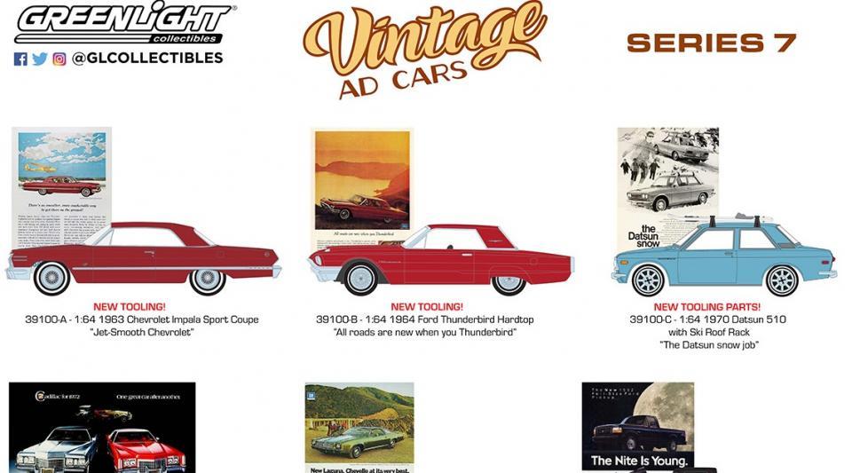 Um novo lote da série Vintage Ad Cars com novidades