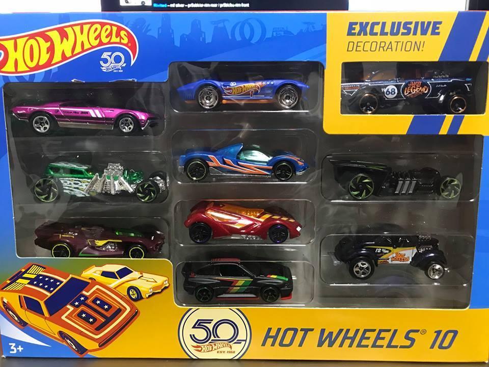 10-Pack de Comemoração aos 50 Anos da Hot Wheels