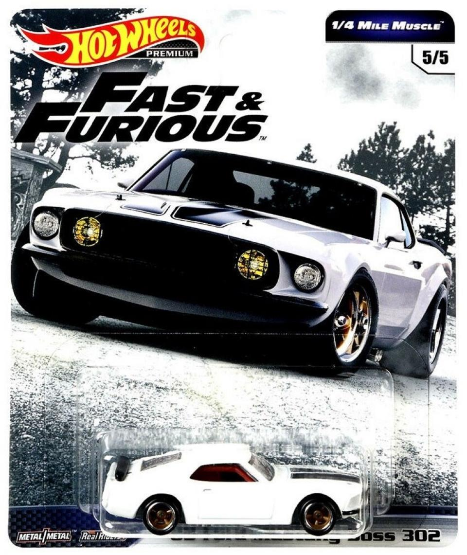 Hot Wheels Fast & Furious Premium 1/4 Mile Muscle