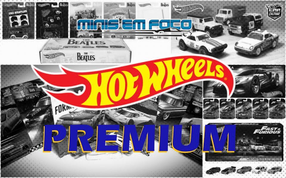 As séries Premium atuais da Hot Wheels