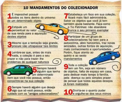 Os 10 mandamentos do colecionador