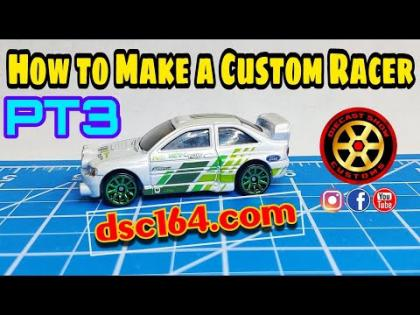 HOW TO MAKE A CUSTOM RACER HOT WHEELS PT3