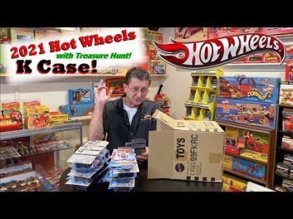 2021 Hot Wheels K Case Unboxing with Treasure Hunt   Hot Wheels
