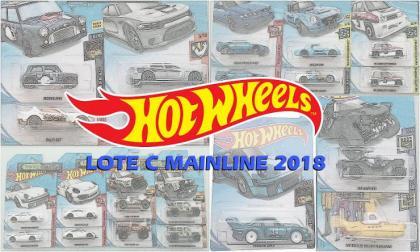 As miniaturas do Lote C da Mainline 2018 Hot Wheels
