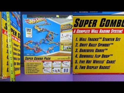 HUGE Hot Wheels Wall Tracks Super Combo Pack With Four Complete Sets from 2012