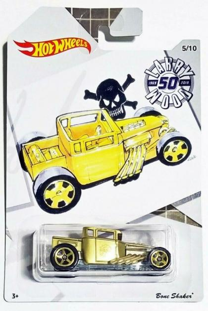 2019 Hot Wheels Bone Shaker Larry Wood 50th Anniversary