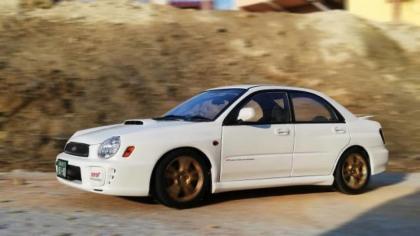 1/18 Subaru Age Impreza WRX STI White 2001 AUTOart