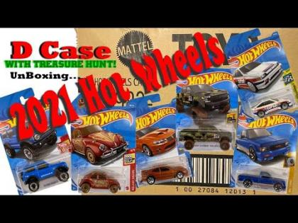 2021 Hot Wheels D Case with Treasure Hunt | Hot Wheels