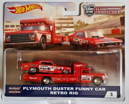 Hot Wheels Plymouth Duster Funny Car Retro Rig (Mongoose)