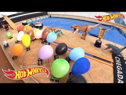 Hot Wheels Monster Jam Corrida de Balões Coloridos - Carrinhos de Brinquedos #84