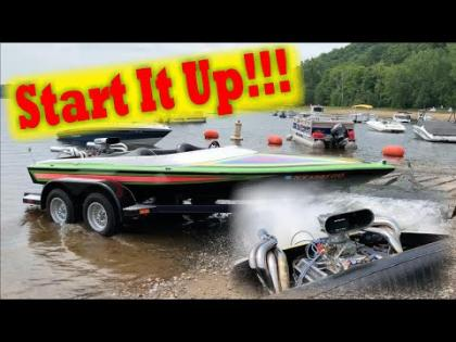 Jet Boat Startup and Ride across the lake!