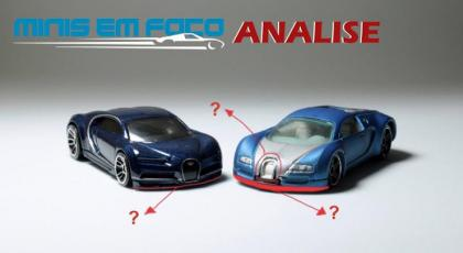 Bugatti Veyron vs Chiron da Hot Wheels - Evolução