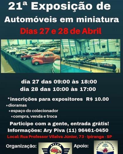 21ª Exposição de Automóveis em Miniatura