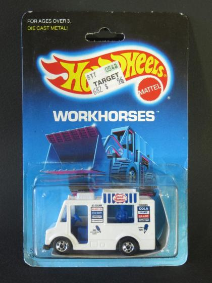 1986 Hot Wheels Workhorses Good Humor Truck Carded