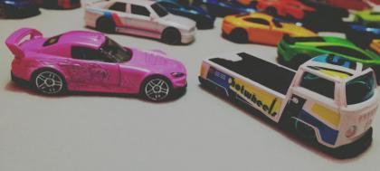 Un carro rosita