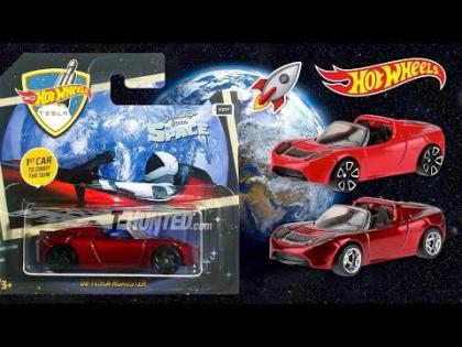 New 2019 Hot Wheels Tesla Roadster Space Edition!