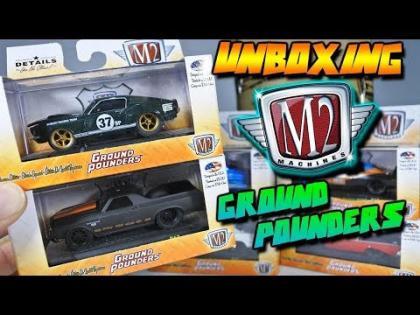 UNBOXING - M2 MACHINES GRAUND POUNDERS CAJA/CASE 17 - 2018