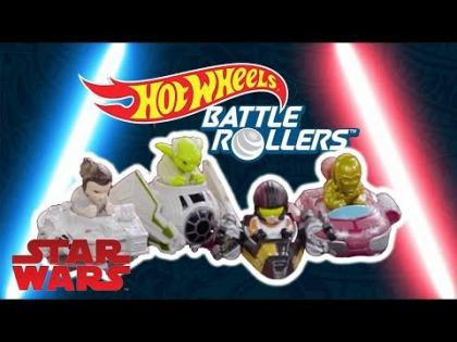STAR WARS BATTLE: LIGHT SIDE VS DARK SIDE | Battle Rollers | Hot Wheels