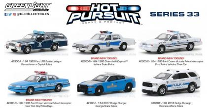 As viaturas do lote 33 da série Hot Pursuit