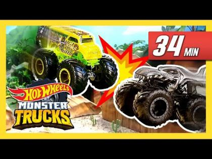 Beaches, Fire, and Ice! All Time TOP 5 Monster Truck Races! | Monster Trucks | Hot Wheels